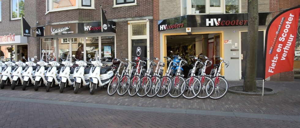 HV Scooters also provides rental bikes, e-bikes and scooters in the city of Alkmaar
